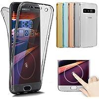 Funda de silicona Ikasus para Samsung Galaxy Note 8 con cobertura total de 360grados. Diseño degradado de cristal transparente fino y resistente a los arañazos
