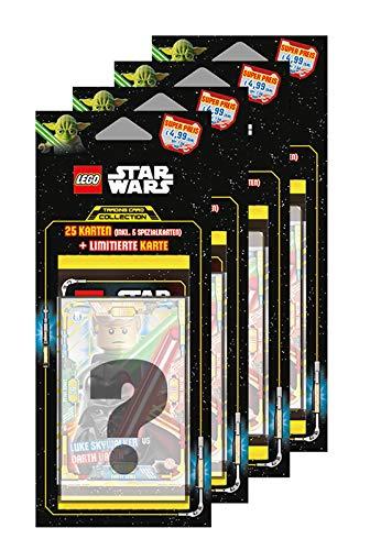 Unbekannt Lego Star Wars - Serie 1 Trading Cards - Alle 4 Verschiedene Blister - Deutsch