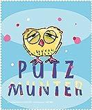 """Brillenputztuch """"Putzmunter"""" Rannenberg & Friends Mikrofasertuch Tuch Brille"""