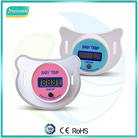 Pacifier Thermometer with LCD Digital for Baby Infant Kid; Soother, Dummy Thermometer for Fever / Temperature measurement Mouth; comfortable soft nipple