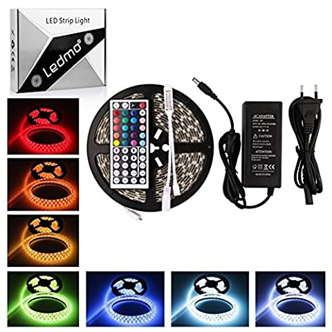 LEDMO® 5M 12VDC LED Streifen, 3000LM/24W, RGB Warmweiß Kaltweiß led strip Leiste Licht led band