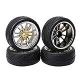 BQLZR 4PCS Arrow Grain Tires For RC1:10 On Road Racing Car 12 mm Wheel Drive Hex