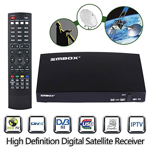 51DSAuu6eOL - BEST BUY #1 Genuine SMBOX Satellite Receiver Full HD 1080P Smart TV Box With All Channels, Support PVR Via USB, Web TV, Free to Air Freesat Smart FTA Set Top Box Reviews and price compare uk