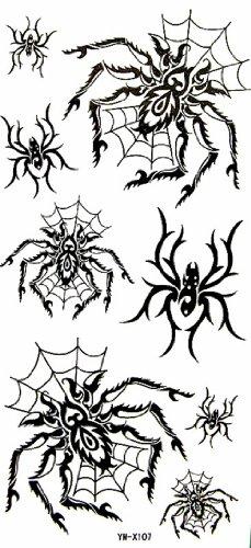 Ggsell yimei waterproof nero tatuaggi temporanei animale ragno
