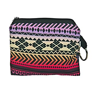Estuche para Llaves con Anillo Monedero Cartera bolsita DISENOS Y Colores DE Moda! Aztec Yellow – Pink