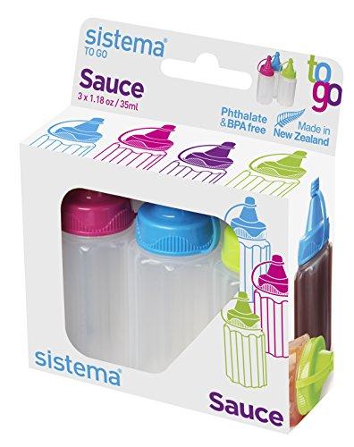 Sistema Packung 3 Flaschen to go ml35 (Salat-dressing-mixer-flasche)