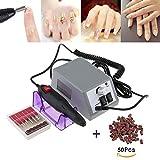 Elektrisch Nagelfeilen Nagelfräser Fräser Maniküre Pediküre Nagelfeile Fußpflegegerät Set mit geringem Rauschen und Vibration +100 Schleifhülsen