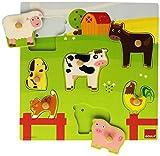 Goula - Puzzle con sonidos de diseño animales granja, 7 piezas (Diset...
