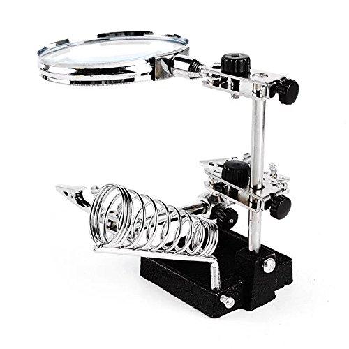 Preisvergleich Produktbild Miaozaigou Spring Schreibtisch Reparatur Lupe Lötkolben Leiterplatte Reparatur 10X Metallstruktur mit Zusatzklemme
