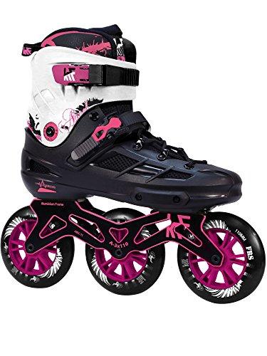 KRF The New Urban Concept Angel 3X110 Inline Skates 3wd Mit CNC Rahmen Und 110m Super High Rebound Rädern Pink 39