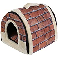Moliies Faltbarer Hundewelpen-Katzenhaus-Hundehütte-Nest-Bett mit Matten-Haustier-Reise-Bettzelt