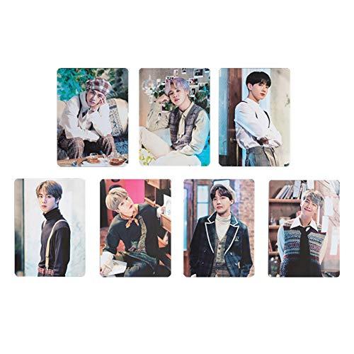 ALTcompluser Kpop BTS Map Of The Soul : Persona Photocard/Fotokarten Set, Bangtan Boys Jungkook Jimin V Suga Jin J-Hope RM Postcard für BTS Army,13 Blätter(2019 5TH MUSTER - 7 Blätter) -