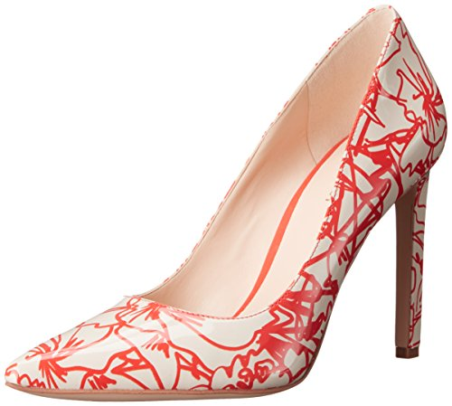 Nine West Tatiana pompa Dress sintetico Off White/ Red Floral Graffiti