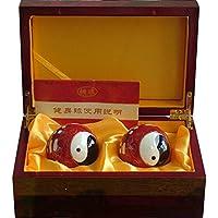 Chinesisches Traditionelles Baoding Eisenkugel Rot Tai Chi Fitnessball Dekompression Handball Geschenkbox 50mm350g preisvergleich bei billige-tabletten.eu