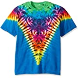 Liquid Blue Men's Rainbow Krinkle V T-Shirt