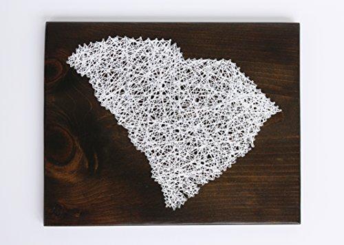 South Carolina DIY String Art Kit, Clemson Art, Home Art, Erwachsene Handwerk Kit, Palmetto Tree, DIY-Geschenk, String Art Muster ()