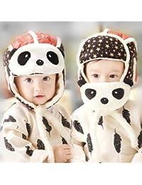 kosbon bébé garçons filles Panda Chapeaux Masques Crash Fonction 2en 1casque, d'hiver, extérieur Ski cache-oreilles oreille Rabat Hat.