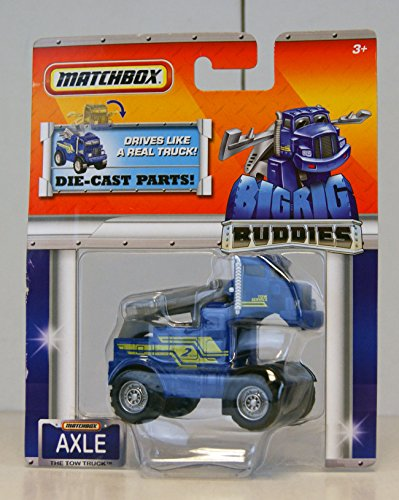 Matchbox - Big Rig Buddies - Die-Cast Parts - Axle The Tow Truck - Diecast Truck Tow