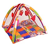 #3: BabyShower Kids Bedding Set with Mosquito Net, Hanging Toys & Pillow for Baby - Multicolour
