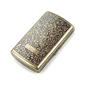 Zigarettenetui aus hochwertigem Stahl, Zigarettenbox für Damen antik Zigarettenetui mit Gravur, antik Zigaretten Kasten…