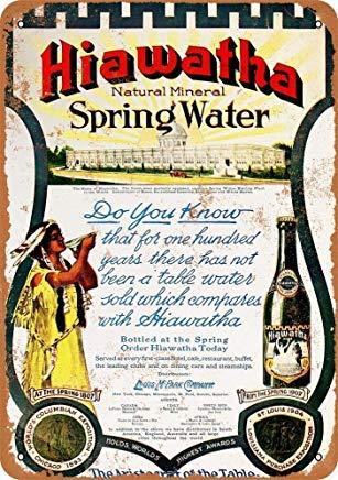 Modtory Hiawatha Wandschild aus natürlichem Mineralwasser, 20,3 x 30,5 cm - Natürliches Mineralwasser