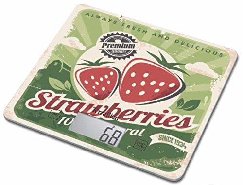 Terraillon 12879 T1040 Balance Motif Strawberry Vert/Déco Vintage