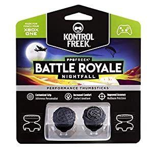 KontrolFreek FPS Freek Battle Royale Nightfall für Xbox One Controller | Performance Thumbsticks | 2 High-Rise Convex (Domed) | Black