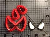 1pièce film Super Hero Spiderman Eyes Emporte-pièces en 3d Imprimé Fondant Cupcake Top Ensemble d'emporte-pièces pour décoration de gâteaux outils Face Eyes 1 inch