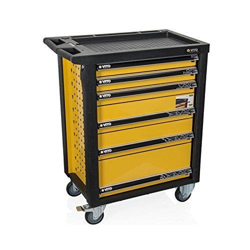 Preisvergleich Produktbild Auflagetisch für Atelier Vito 6 Schubladen + 100 Werkzeug Hohe Qualität Chrom Vanadium + Werkzeug HAT BOX servante D Atelier de Garage