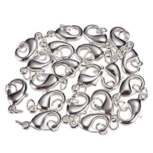 pandahall-elite-20-x-chiusure-ottone-chiusure-lobster-claw-con-anellino-chiusure-per-braccialetti-co