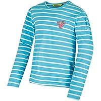 Regatta niños de Carella Camisetas/Polos/Chaleco, Infantil, Color Horizon/Whit, tamaño Talla 9-10