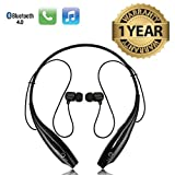 #7: Lambent HBS-730 Neckband Bluetooth Headphones Wireless Sport Stereo Headsets Handsfree with Microphone for Android, Apple Devices(One Year Warranty, Assorted Colour)