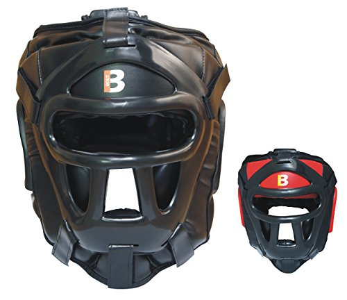 Stylisch MMA Kopfschutz / Helm für Sparring Training in allen Kampfsport (Boxen, Muay Thai und anderen) Einstellbarer Gesichtsvollschutz, UFC Kopfbedeckung, Schutz gegen Faust- und andere (Ufc Kostüme)
