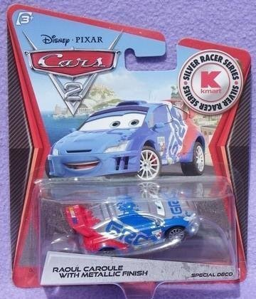 Disney / Pixar CARS 2 Movie Exclusive 155 Die Cast Car SILVER RACER Raoul Caroule by Mattel Toys