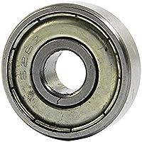SODIAL(R) 626Z doble sellado rodamientos de Bola 6x19x6mm acero al carbono Plata