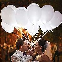 Ballons LED Ballons Lumineux Blanc Idéal pour Anniversaire Fête Soirée Marriage etc 20 Pièces