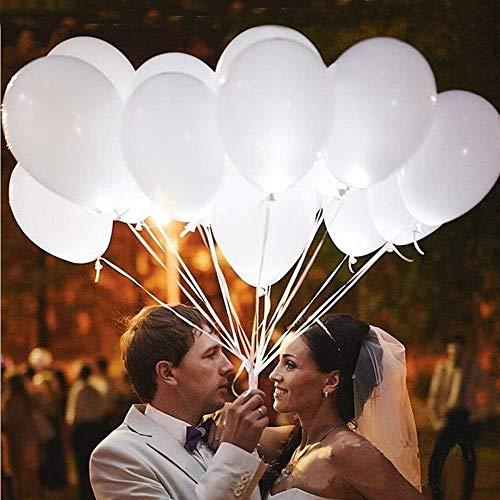 leutende Luftballons mit LED Licht Hochzeit Deko 20 Stück über 24 Stunden Leuchtdauer für Hochzeiten Partys Geburtstage Weiß