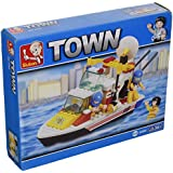 Sluban Building And Construction Blocks M38-B3600 Rescue Boat Building Block Construction Set 114 Piece