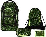 Satch Schulrucksack Set 4-TLG Pack Green Bermuda Grün