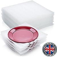 VEDA - Lote de 50 hojas de espuma para proteger platos (platos de gafas, artículos frágiles para cajas móviles de 30 x 30 cm)