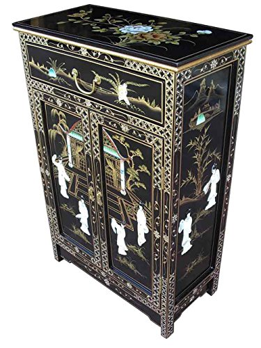 China Warehouse Direct Oriental Chinese Furniture - Mother Of Pearl Cabinet
