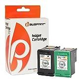 Bubprint 2 Druckerpatronen kompatibel für HP 337 HP 342 HP337 HP342 für Officejet 6300 6310 6315 Photosmart 2500 2570 2575 C4100 C4110 C4140 C4180