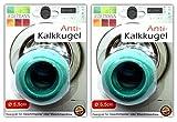 2x Antikalk Waschkugel Ø 5,5 cm | Antikalk Ball | Waschball | Magnetkugeln