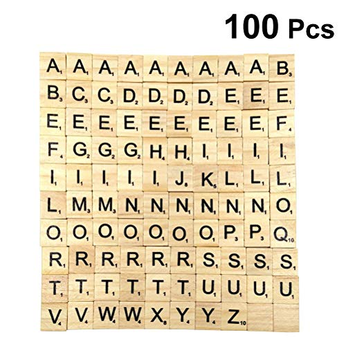 SUPVOX 100 STÜCKE 26 Englisch Alphabet Buchstaben Puzzle Holzblöcke Kinder Früherziehung Brief Spiel Holz Block Chips