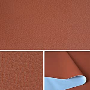 Ska simili cuir roux orang tissu au m tre tissu d for Skai simili cuir au metre