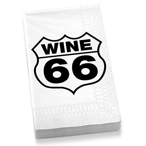 Epic Products Wine 66 Gästehandtuchservietten, mehrfarbig, 20 Stück Barware Cocktail-bar