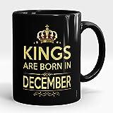 #7: Londonius KINGS Are Born In December   Birthday Gifts for Boys, King, Men   11oz Ceramic Coffee Mugs