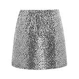 Metme Damen Glitter, Figurbetontes Kleid Stretch Glänzender Minirock Mit Pailletten MEHRWEG