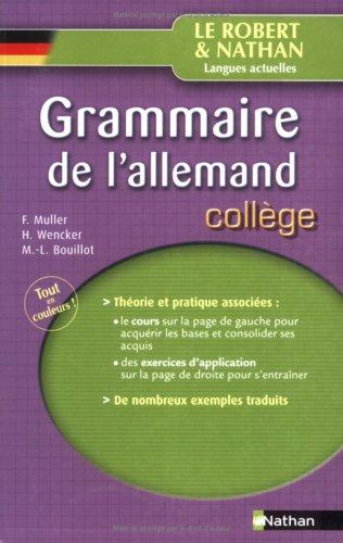 Grammaire de l'allemand : Collège