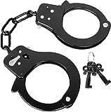 normani Handschellen aus Stahl mit 2 Schlüsseln Farbe Schwarz